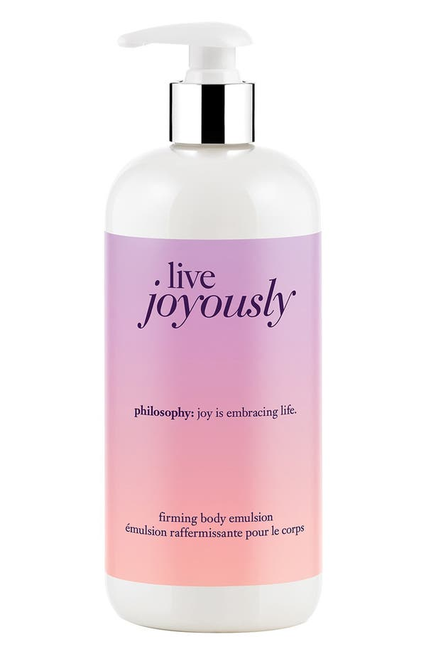 'live joyously' firming body emulsion,                         Main,                         color, No Color
