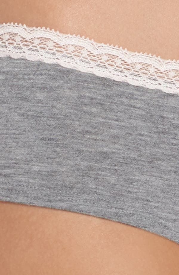 Dreamy Hipster Briefs,                             Alternate thumbnail 4, color,                             Grey Heather
