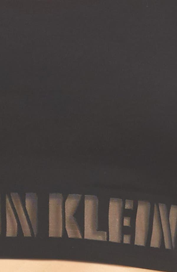 Laser Racerback Bralette,                             Alternate thumbnail 8, color,                             Black