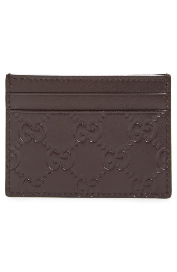 Gucci Leather Card Case   Nordstrom
