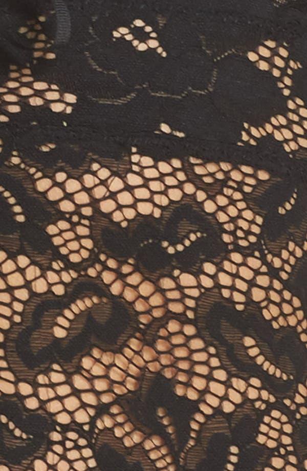 Intimately FP Gazey Eyes Lace Thong Bodysuit,                             Alternate thumbnail 6, color,                             Black