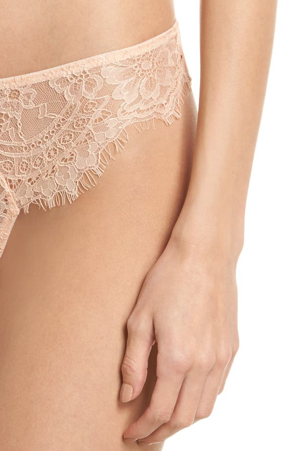 Thistle & Spire Graham Lace Bikini,                             Alternate thumbnail 8, color,                             Blush