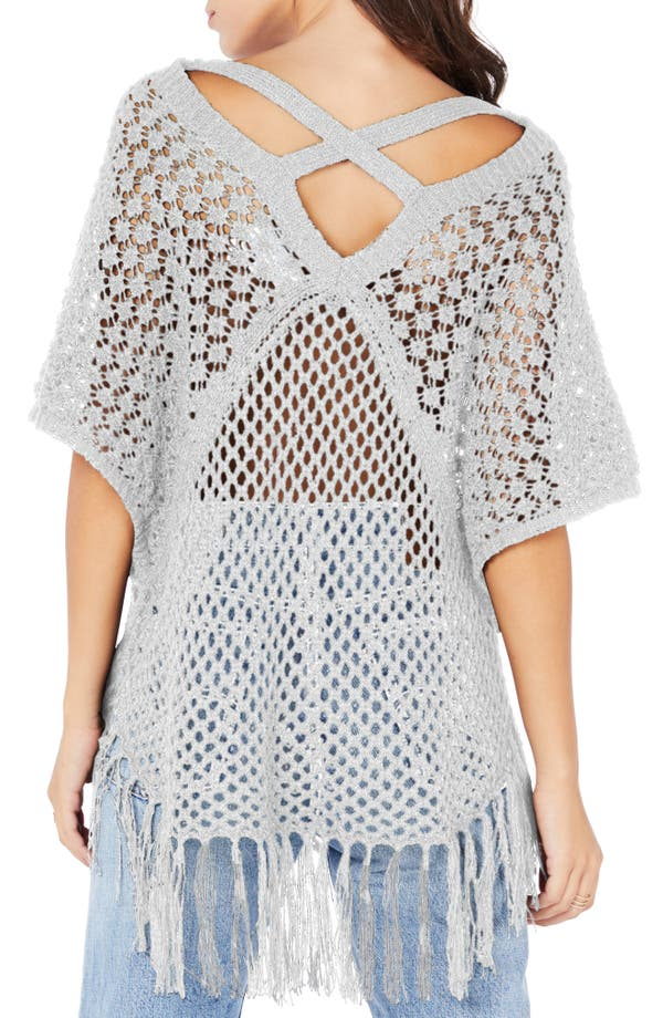 Michael Stars Open Stitch Poncho Sweater Nordstrom