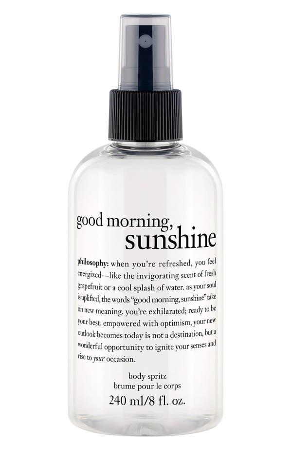 Alternate Image 1 Selected - philosophy 'good morning sunshine' body spritz (Limited Edition)