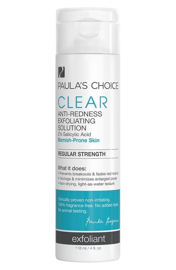 Clear Regular Strength Anti-Redness Exfoliating Solution,                             Main thumbnail 1, color,                             No Color