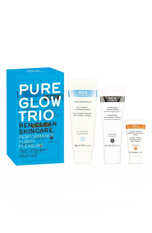 Alternate Image 1 Selected - SPACE.NK.apothecary REN Pure Glow Trio (Limited Edition) ($79 Value)
