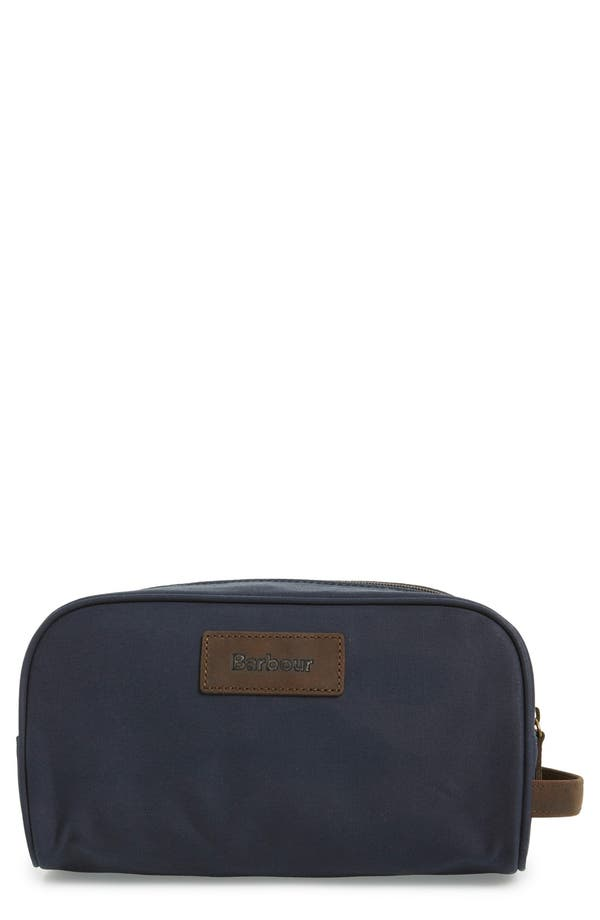 Waxed Canvas Travel Kit,                             Main thumbnail 1, color,                             Navy