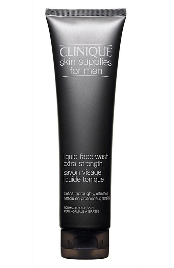 Alternate Image 1 Selected - Clinique Skin Supplies for Men Liquid Face Wash (Extra-Strength)