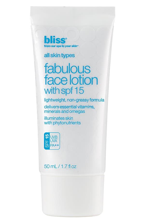 Main Image - bliss® 'Fabulous' Face Lotion SPF 15