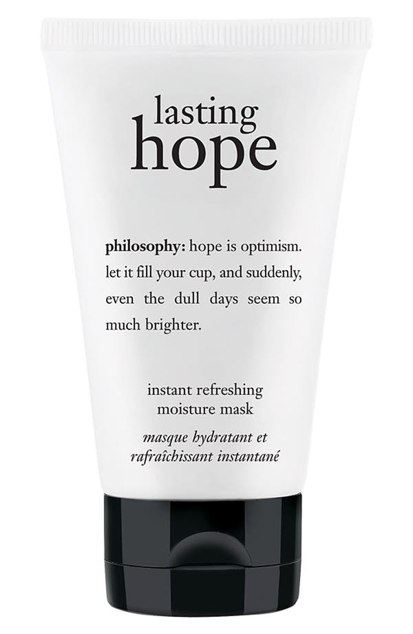 Main Image - philosophy 'lasting hope' instant refreshing moisture mask (Nordstrom Exclusive)