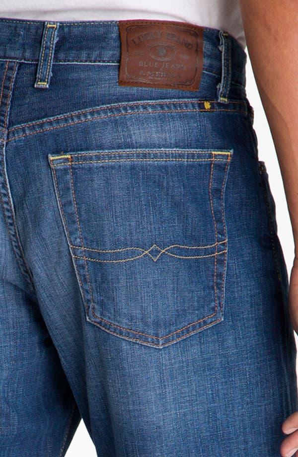 Alternate Image 4  - Lucky Brand Relaxed Straight Leg Jeans (Ol' Neptune)