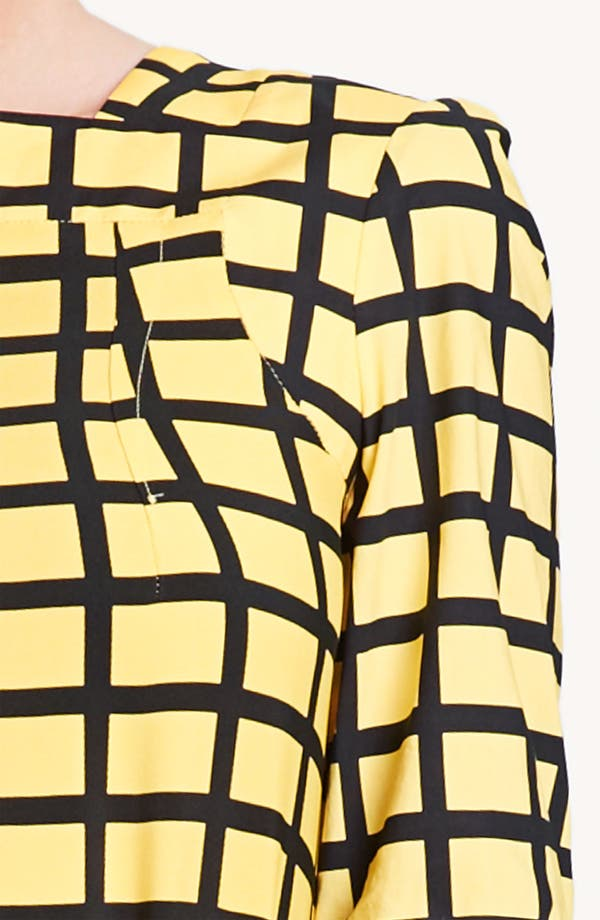 Alternate Image 3  - Marni Edition Grid Print Crepe Top