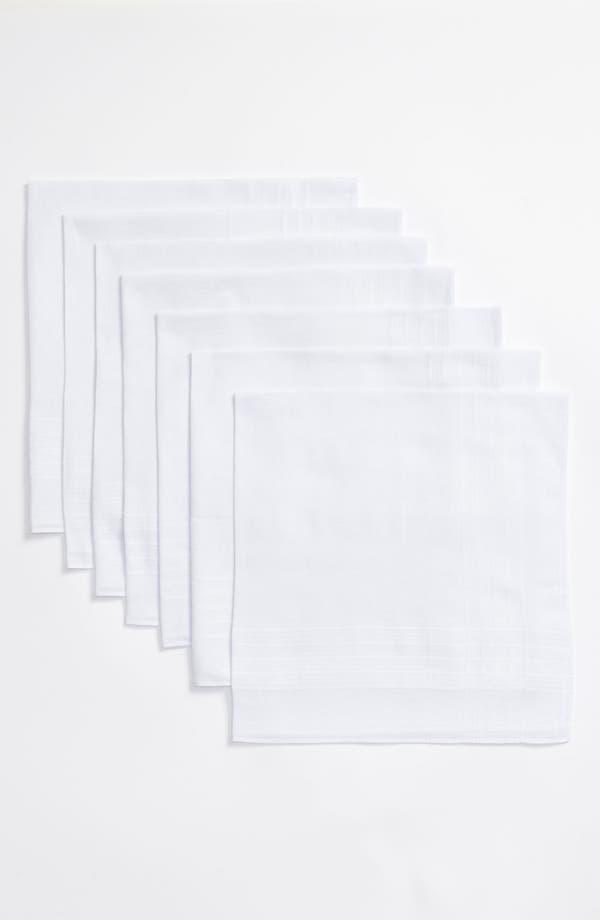 Alternate Image 3  - Nordstrom Men's Shop Cotton Handkerchief (7-Pack)