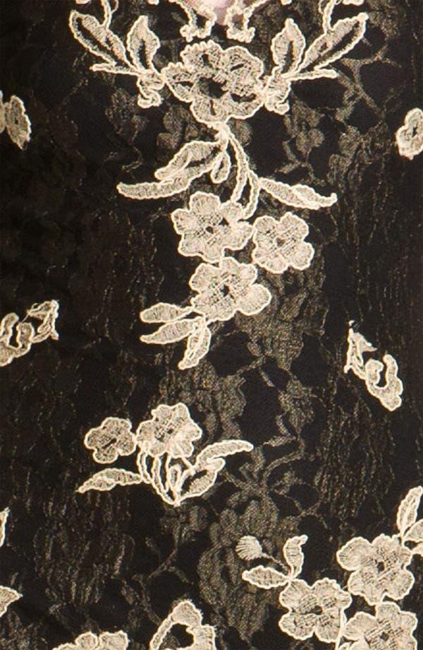Alternate Image 3  - Kay Celine V-Neck Embroidered Mesh Sheath Dress