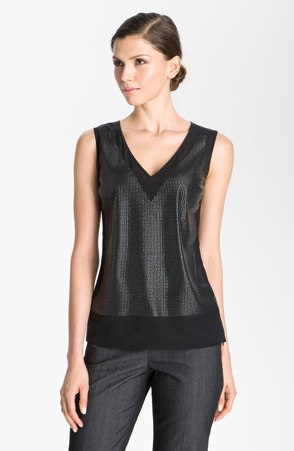 Main Image - St. John Collection Sequin Front V-Neck Top