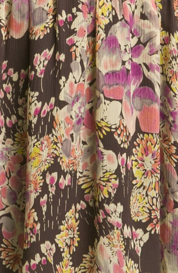 Alternate Image 3  - Gryphon Floral Print Silk Chiffon Shirtdress