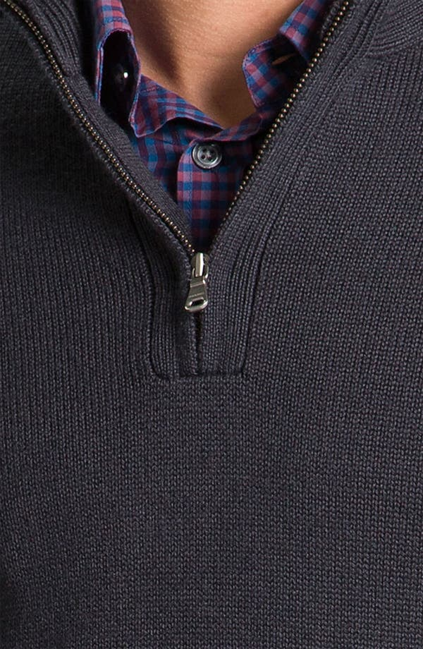 Alternate Image 3  - BOSS Black Quarter Zip Regular Fit Sweater