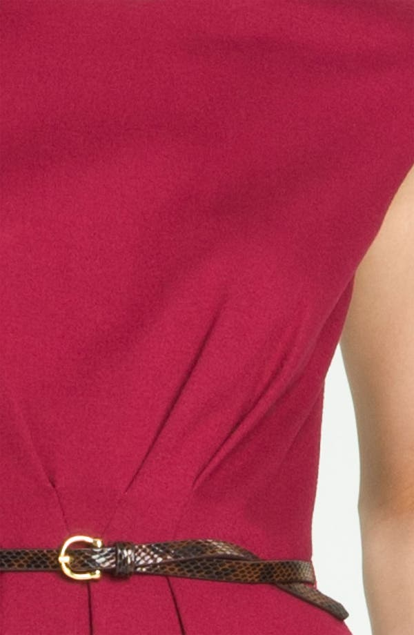 Alternate Image 4  - Maggy London Belted Ponte Knit Fit & Flare Dress