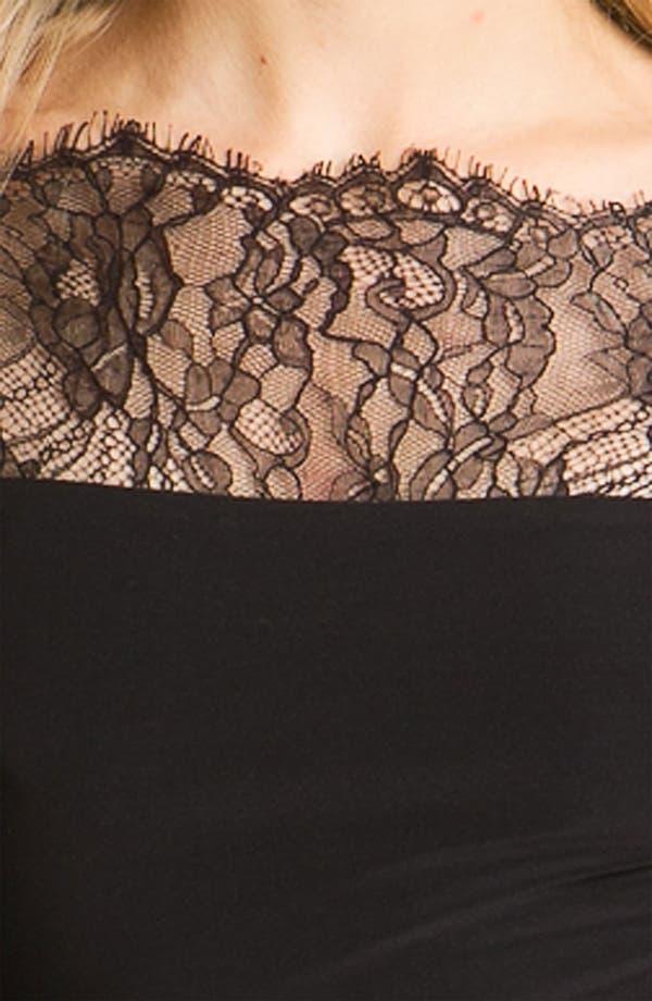 Alternate Image 3  - ABS by Allen Schwartz Lace Sleeve Jersey Sheath Dress