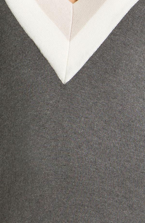 Alternate Image 3  - Felicity & Coco Colorblock V-Neck Sweater Dress (Regular & Petite) (Nordstrom Exclusive)