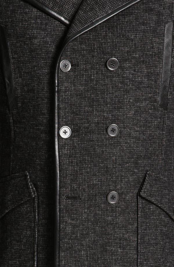Alternate Image 3  - W.R.K Knit Wool Blend Peacoat