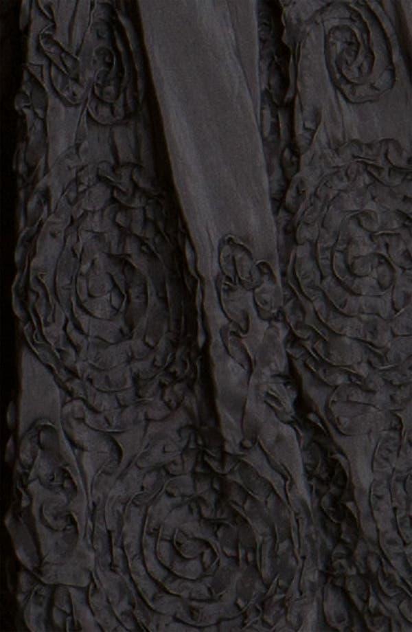 Alternate Image 3  - Adrianna Papell Rosette Mixed Media Dress (Petite)