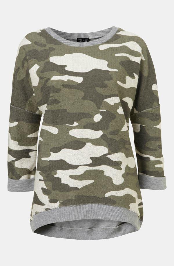 Alternate Image 1 Selected - Topshop Camouflage Sweatshirt
