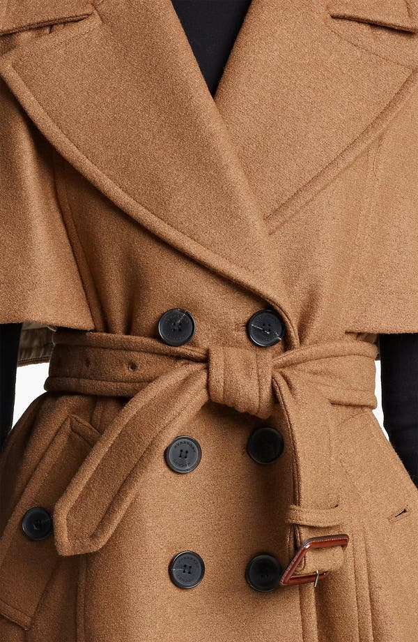 Alternate Image 3  - Burberry London Double Breasted Cape Coat