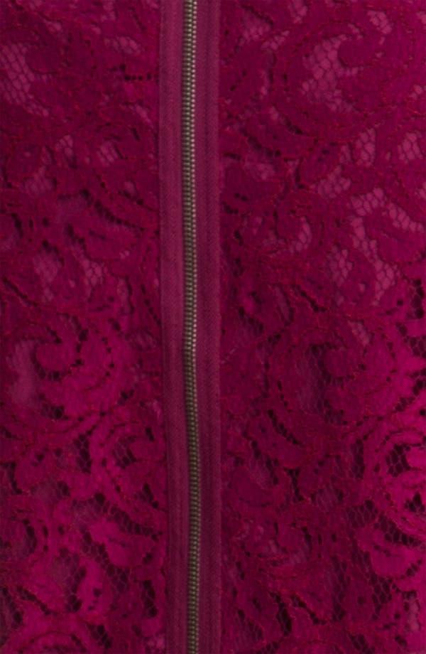 Alternate Image 3  - Adrianna Papell Satin Trim Lace Shift Dress (Plus)