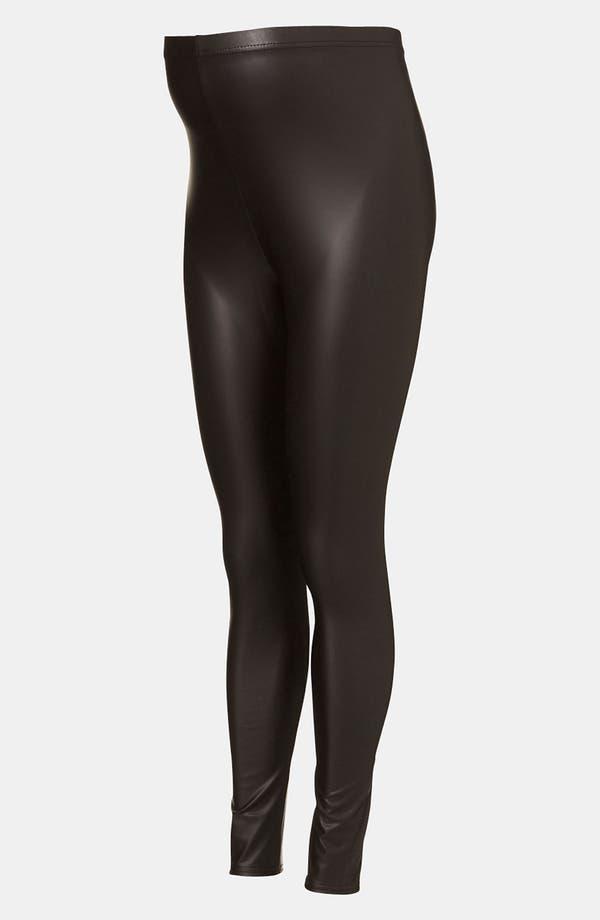 Main Image - Topshop Faux Leather Maternity Leggings