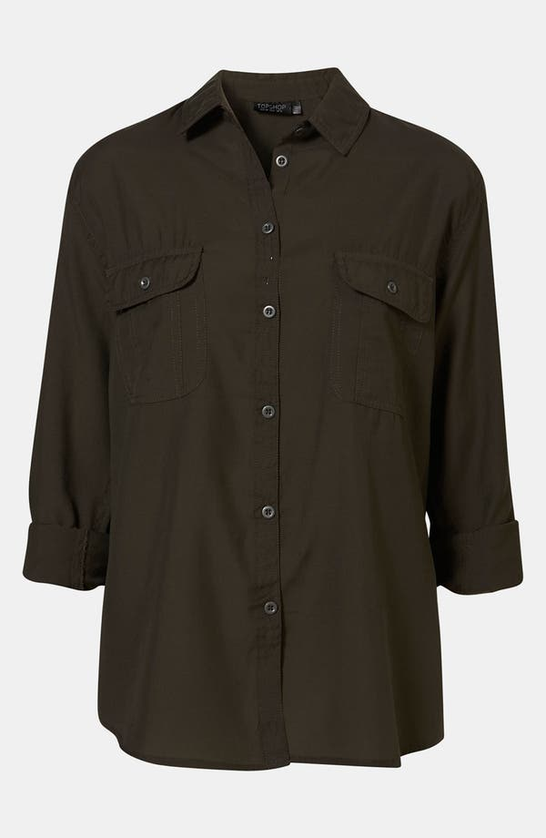 Alternate Image 1 Selected - Topshop Military Shirt