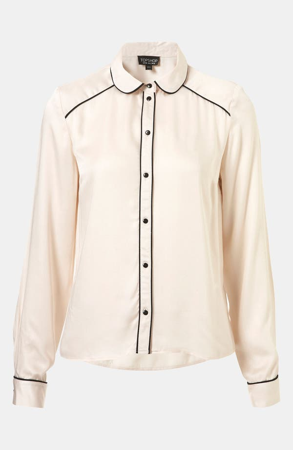 Alternate Image 1 Selected - Topshop 'Emily' Piped Shirt