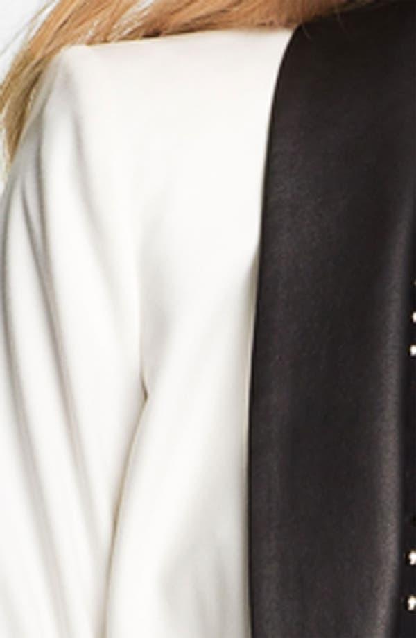 Alternate Image 3  - Elizabeth and James 'Rex' Leather Collar Tuxedo Blazer