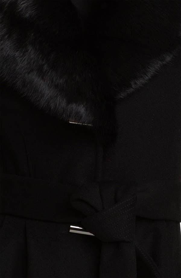Alternate Image 3  - Badgley Mischka 'Julia' Genuine Rabbit Collar Coat