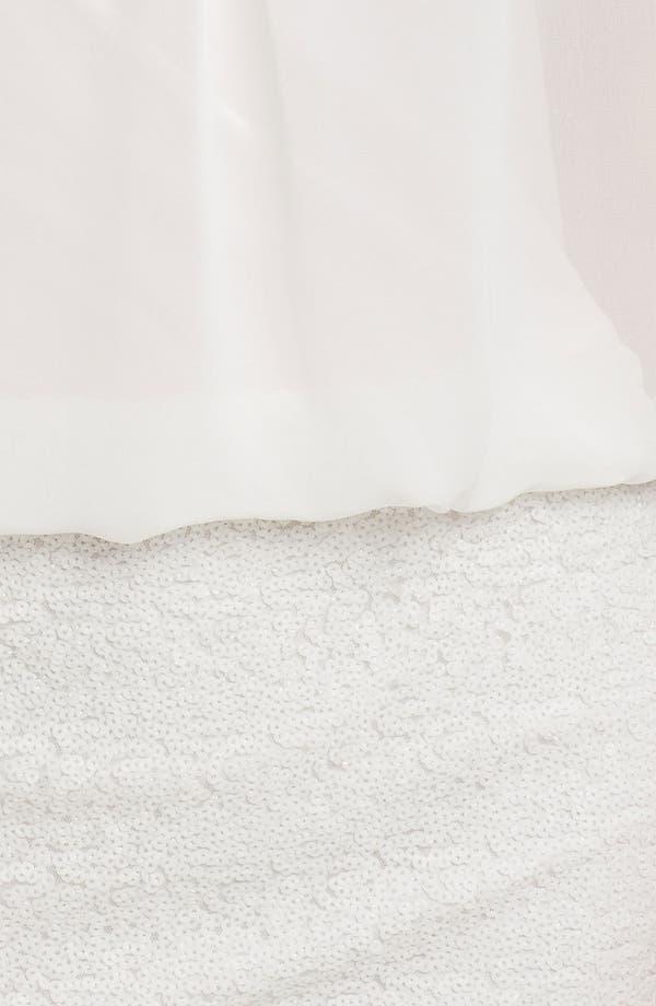 Alternate Image 3  - Aidan by Aidan Mattox Draped Sequin & Chiffon Blouson Dress (Online Only)