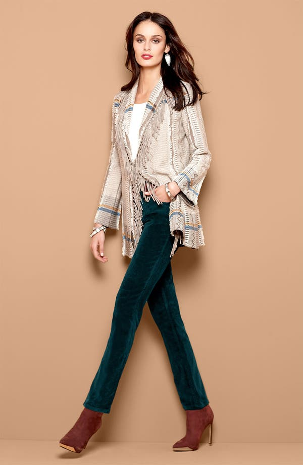 Alternate Image 3  - Nic + Zoe Fringed Shawl Collar Cardigan