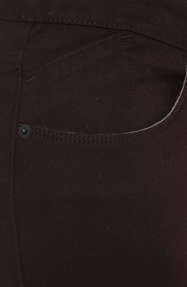 Alternate Image 3  - Topshop Moto 'Baxter' Skinny Jeans (Burgundy)