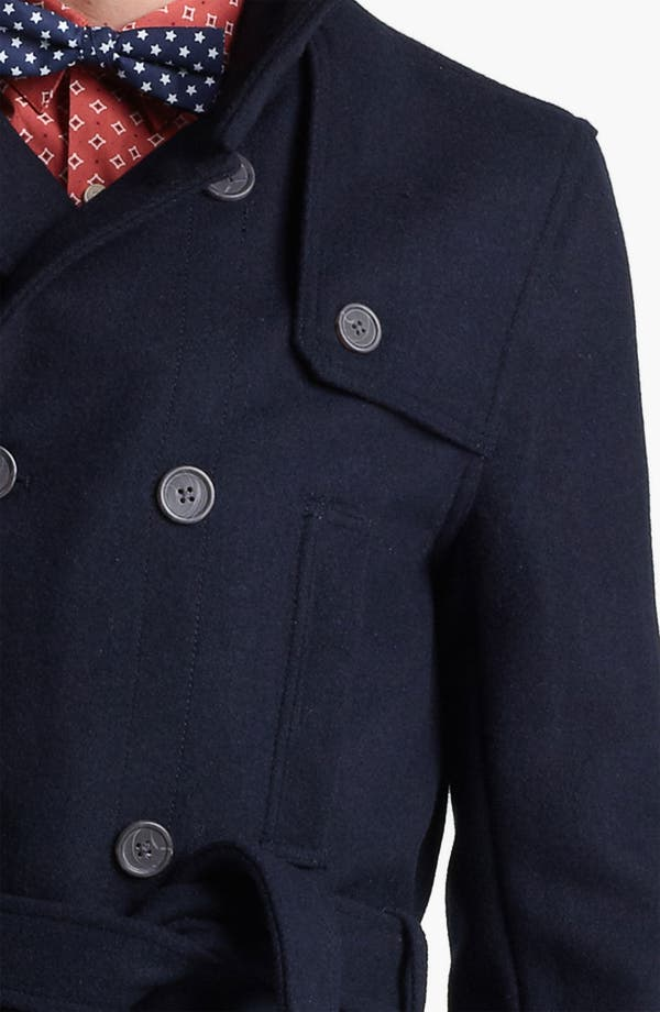 Alternate Image 3  - Topman Funnel Neck Trench Coat
