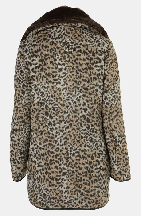 Alternate Image 2  - Topshop 'Karin' Faux Leopard Fur Coat