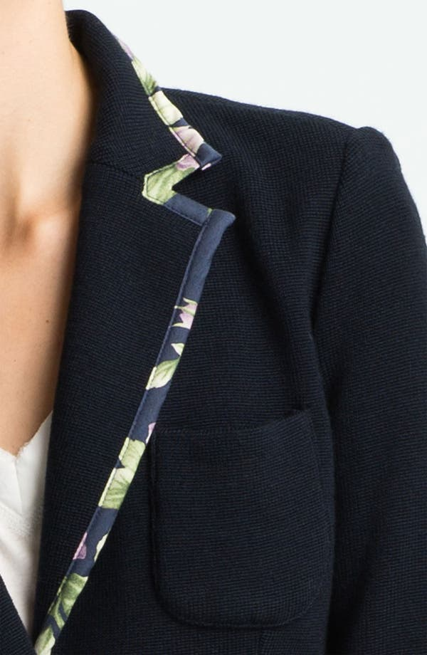Alternate Image 2  - rag & bone 'Bromley' Floral Trim Knit Blazer