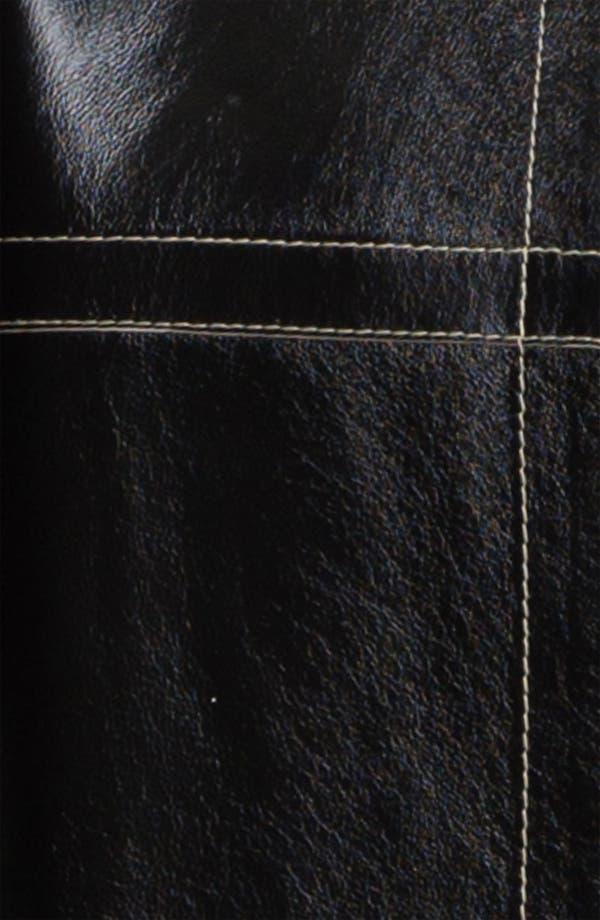 Alternate Image 4  - Lafayette 148 New York Reversible Glazed Lambskin Topper