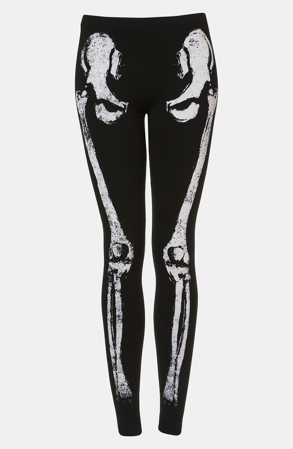 Main Image - Topshop 'Skeleton' Leggings
