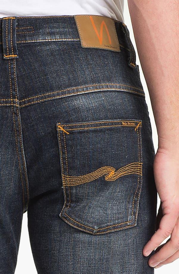 Alternate Image 4  - Nudie 'Thin Finn' Skinny Leg Jeans (Organic Black Indigo)
