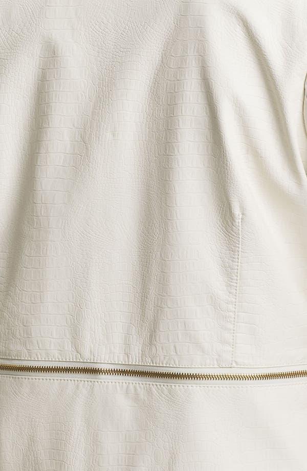 Alternate Image 3  - Mynt 1792 'Chelsea' Zip Detail Faux Leather Jacket (Plus)