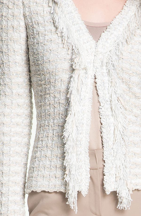 Alternate Image 5  - St. John Collection Shredded Trim Tweed Jacket