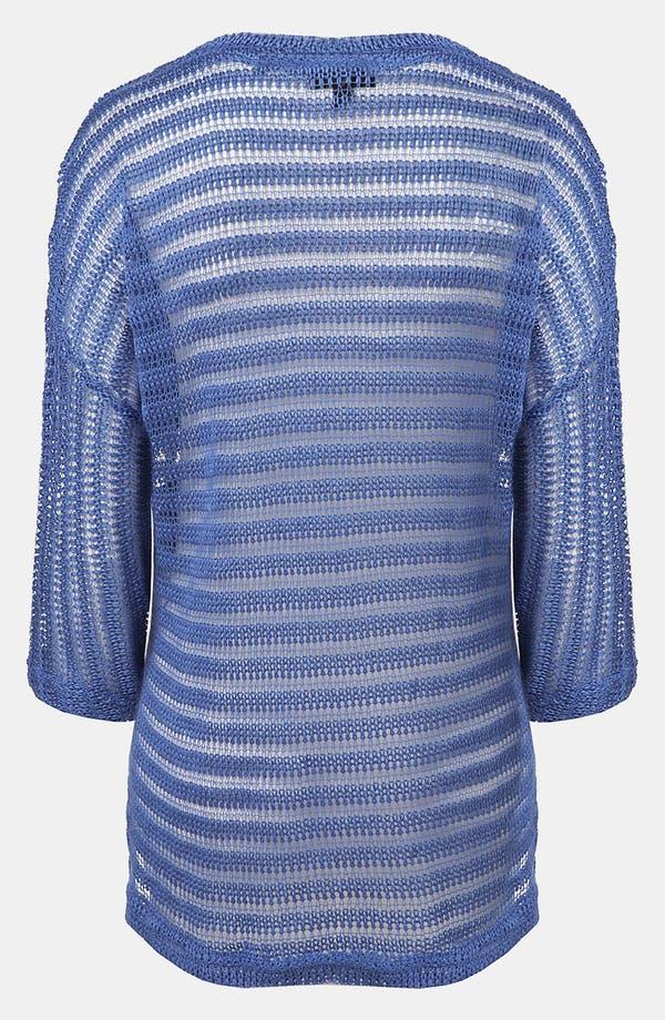 Alternate Image 2  - Topshop Sheer Stripe Sweater