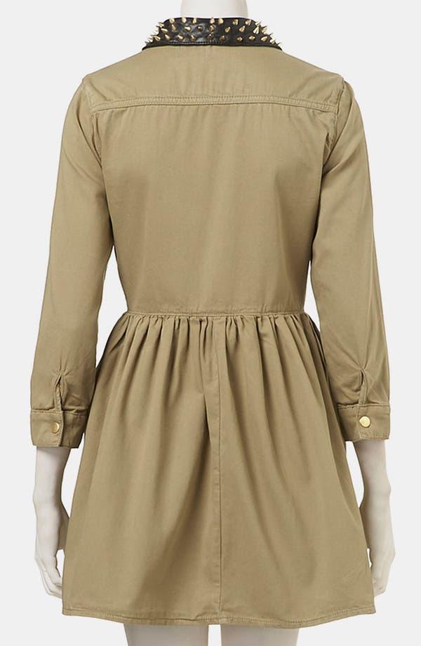 Alternate Image 2  - Topshop Studded Collar Shirtdress