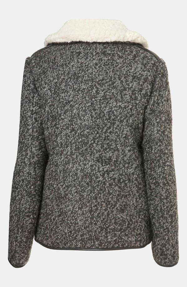 Alternate Image 2  - Topshop Textured Wool Biker Jacket