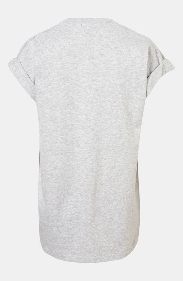 Alternate Image 2  - Topshop Roll Sleeve Graphic Tee