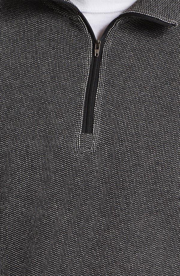Alternate Image 3  - Daniel Buchler Quarter Zip Textured Cotton Blend Sweatshirt